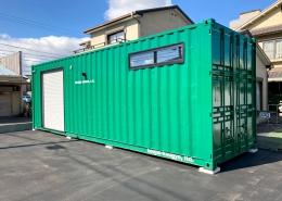 シンプルな40ftコンテナ倉庫
