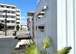 コンテナハウスでFM放送局スタジオを施工・設置(長野県塩尻市)外観
