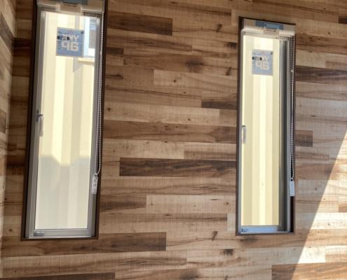テレワークスペース用コンテナハウス(ダークグレー)塗装済み 縦窓